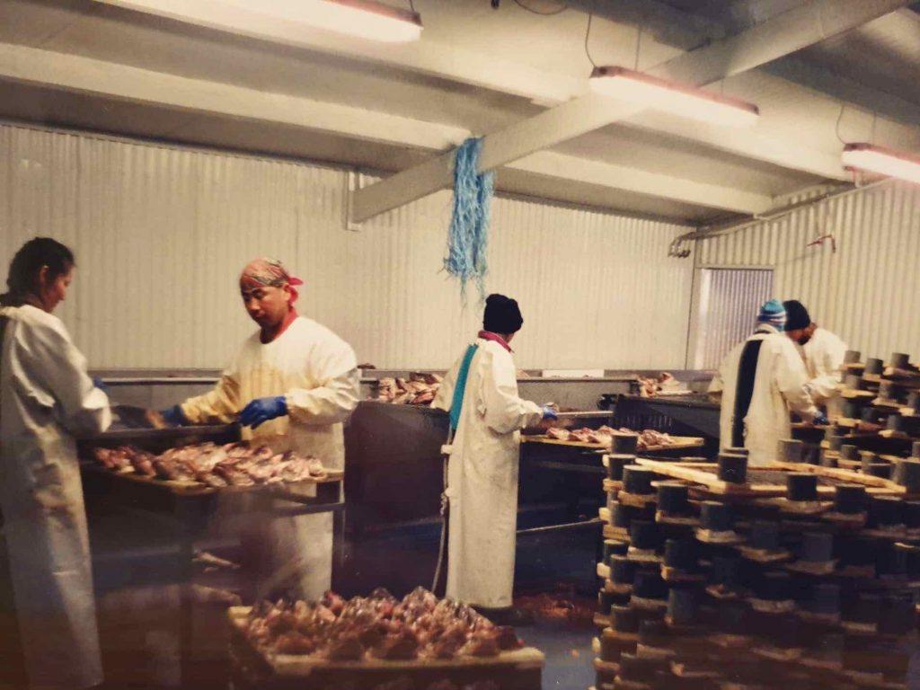 Í vinnslusalnum í kringum árið 2000