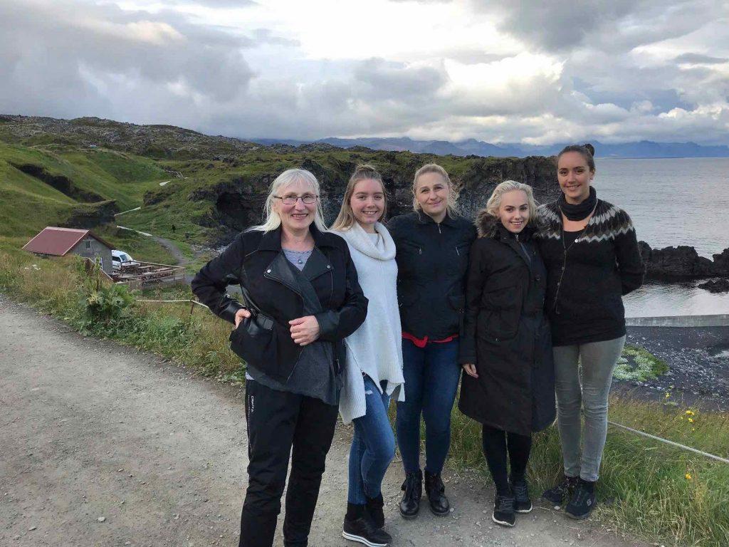 Starfsmenn sumarsins 2018 Ilona, Eivile, Asta, Gintare og Anna