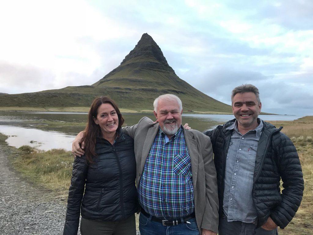 Bryndís, Ove og Siggi. Ove kyntumst við í kringum aldarmót en hann er senior advisor hjá BHJ í Danmörku.