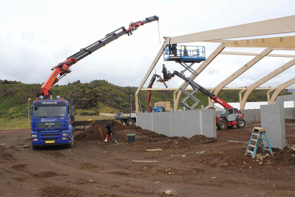 Þurrkhús í byggingu 2012