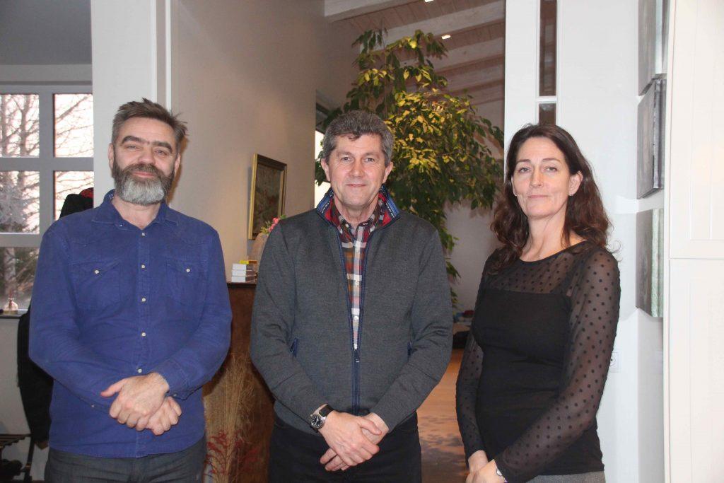 Sigurður, Daniel Parker og Bryndís.