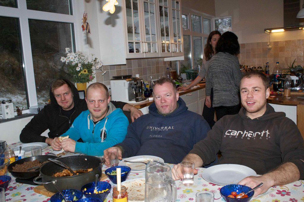 Bormenn - Hákon, Siggi, Árni og Matti.
